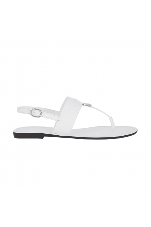 Flat Heel Sandals White