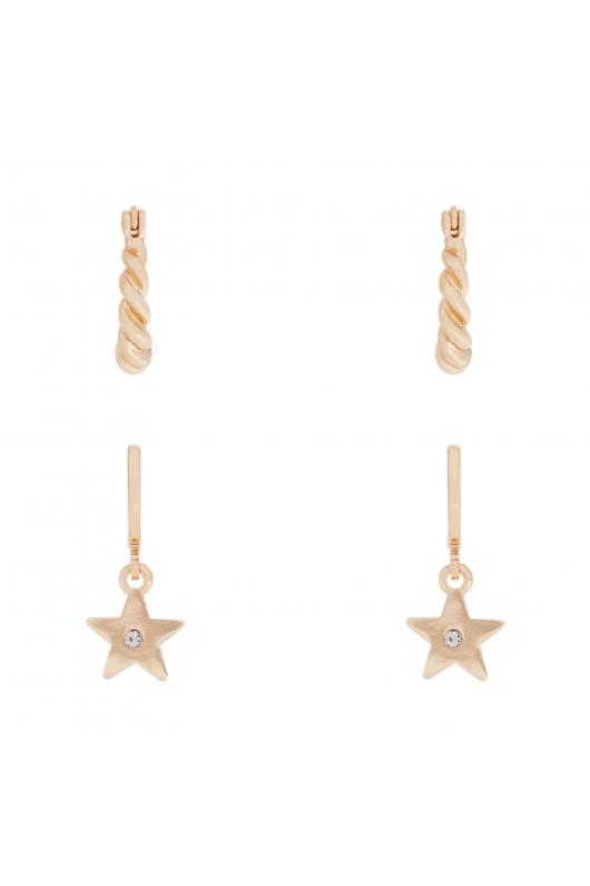 Set of Earrings BASICS GD Gold U