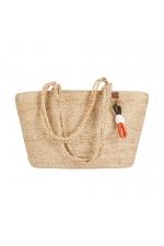 Shopper Bag CHESS1 Straw L