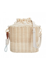 Bucket Bag CHESS1 Straw M