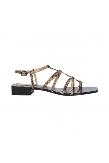 Flat Heel Sandals Brown