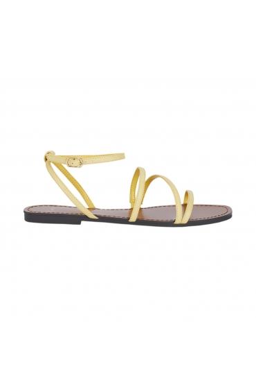 Flat Heel Sandals STRAPS Yellow