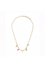 Necklace STAINLESS STEEL COLOR Bright Multicolor U