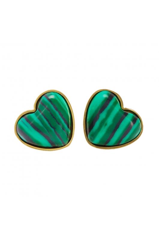 Earring STAINLESS STEEL COLOR Green U