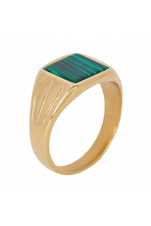 Ring STAINLESS STEEL COLOR Forest Green