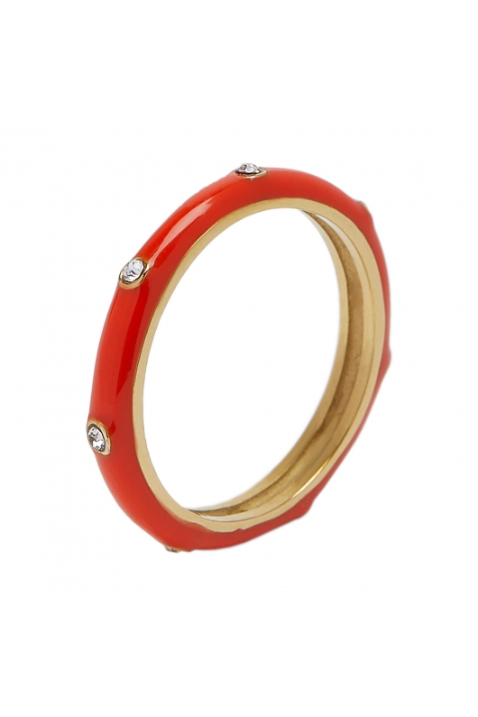 Ring STAINLESS STEEL COLOR Coral