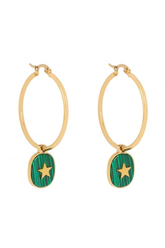 Earring SPARKLING EARRINGS Green U