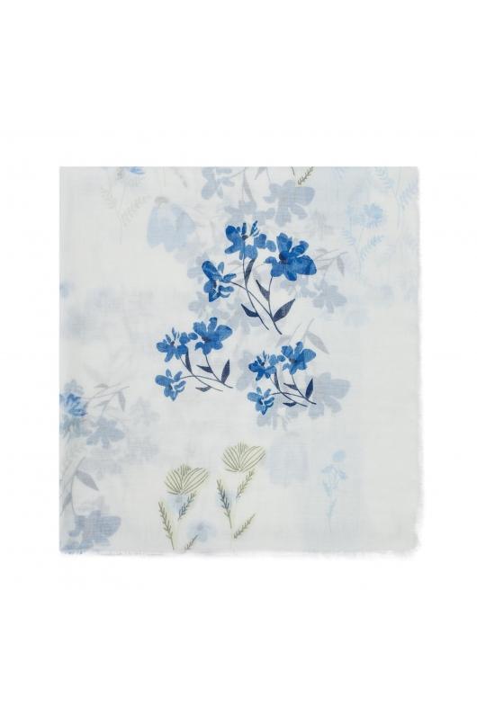 Printed Scarf PANEL Light Blue M