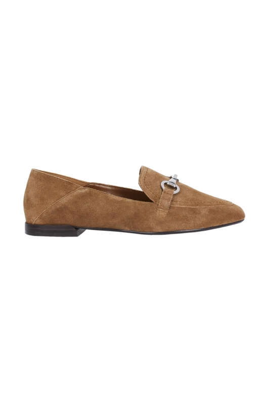 Flat Heel Shoes LEATHER MOCASSIN Taupe