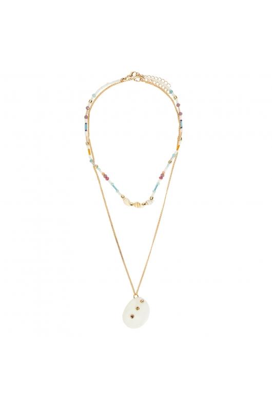 Set of Necklaces SEA BREEZE Pastel Multicolor U