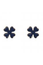 Earring STAINLESS STEEL COLOR Indigo Dye U
