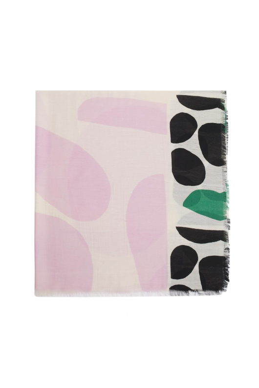 Printed Scarf PANEL Lilac M