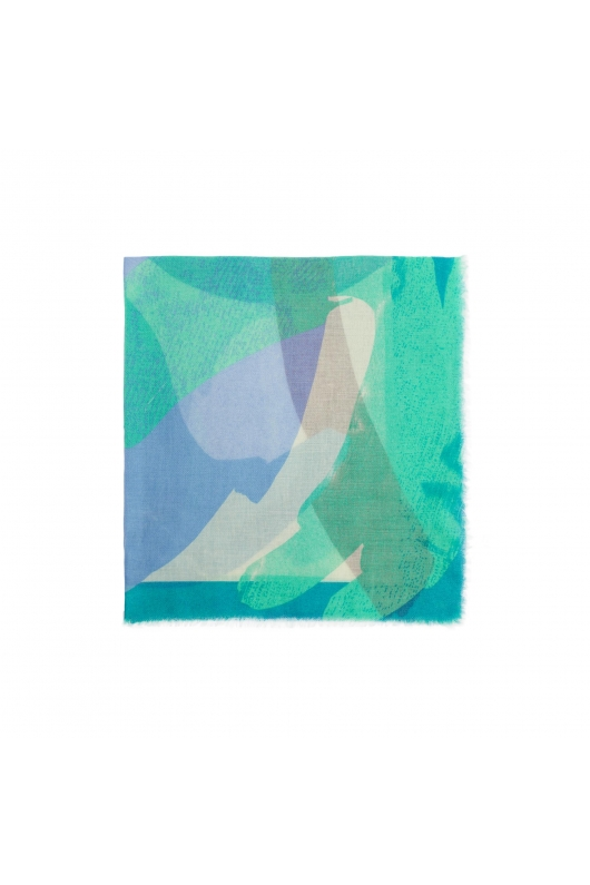 Printed Scarf KISS COLLECTION Blue M
