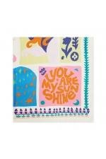 Square Scarf LATERAL SQUARES Bright Multicolor L