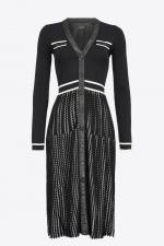 Rochie tricot black&white