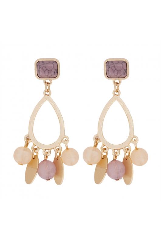 Earring GRAPE STONES Halftone Multicolor U