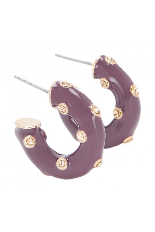 Earring GRAPE STONES Violet U