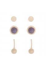 Set of Earrings GRAPE STONES Halftone Multicolor U