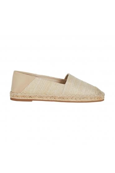 Flat Heel Shoes JUTE CANVAS GOLD