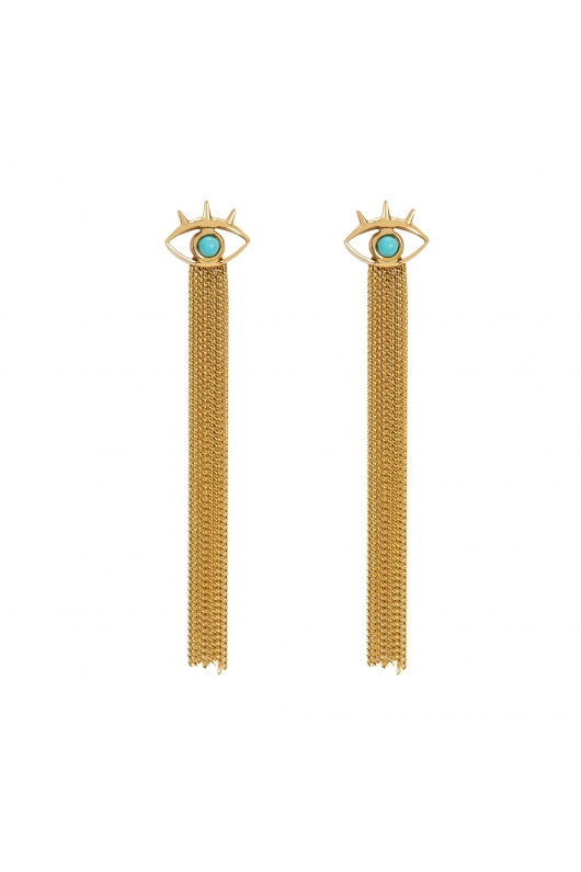 Earring STAINLESS STEEL COLOR Turquoise U