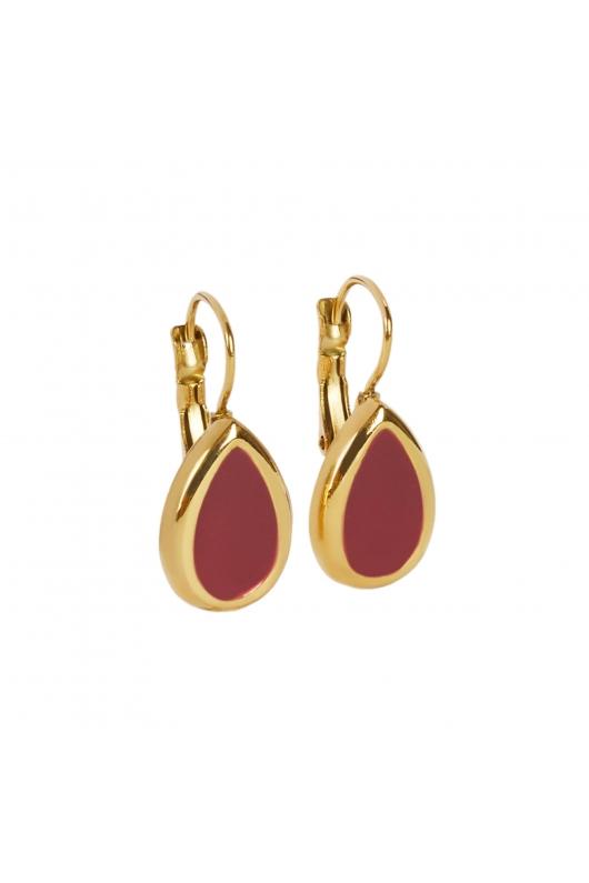 Earring STAINLESS STEEL COLOR Burgundy U