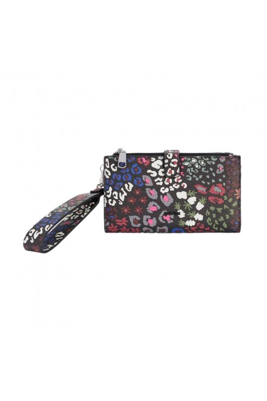 Wallet BASIC MIX FLOWER Black L