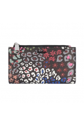 Wallet BASIC MIX FLOWER Black M