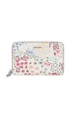 Wallet BASIC MIX FLOWER Ecru S