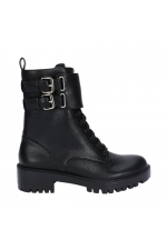 Flat Heel Ankle Boots BOOT MILITAR Black