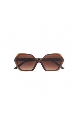 Hexagonal Sunglasses Brown