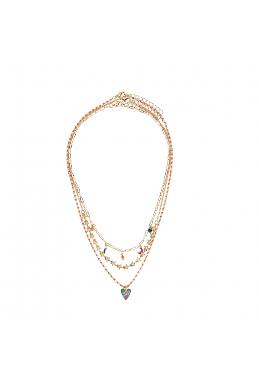 Set of Necklaces KISS COLLECTION Bright Multicolor