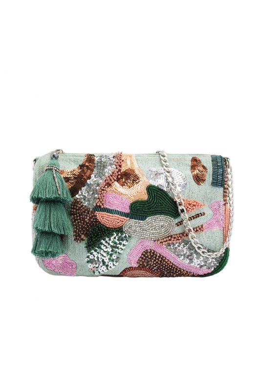 Hand Bag MACAROON Green M