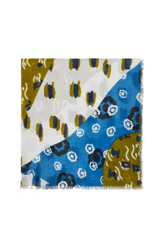 Printed Scarf NAIROBI TOTAL LOOK Blue M