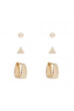 Set of Earrings GOLDEN BASICS Gold U