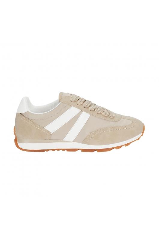 Running Shoes NYLON BEIGE