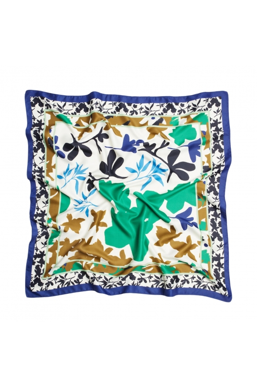 Square Scarf LATERAL SQUARES Blue S