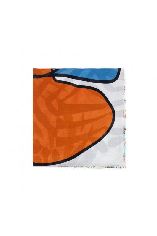 Printed Scarf BEACH WAVES Orange M