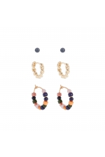 Set of Earrings BOREAL WIND Halftone Multicolor U