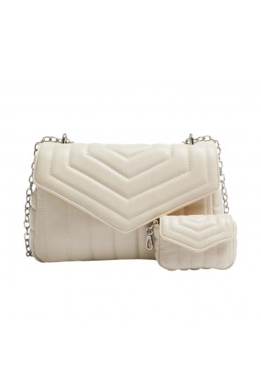 Crossbody Bag WRINK3 Ecru M