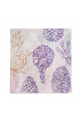 Printed Scarf FALLING FLOWERS Bright Multicolor M