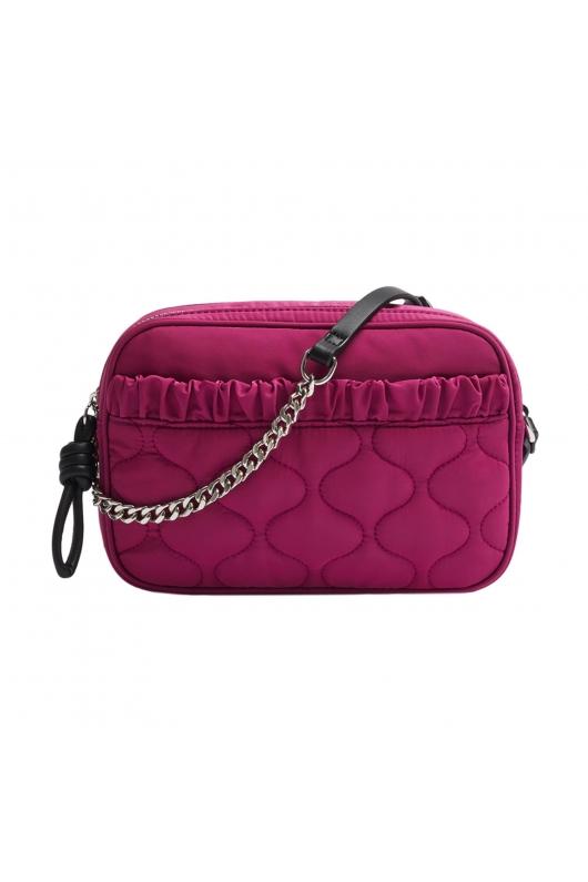 Crossbody Bag WRINK3 Fuchsia M